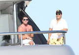 Simon Cowell sat in the sun in the South of France.