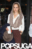 Isabel Lucas toted Aurian in NYC in May 2012.