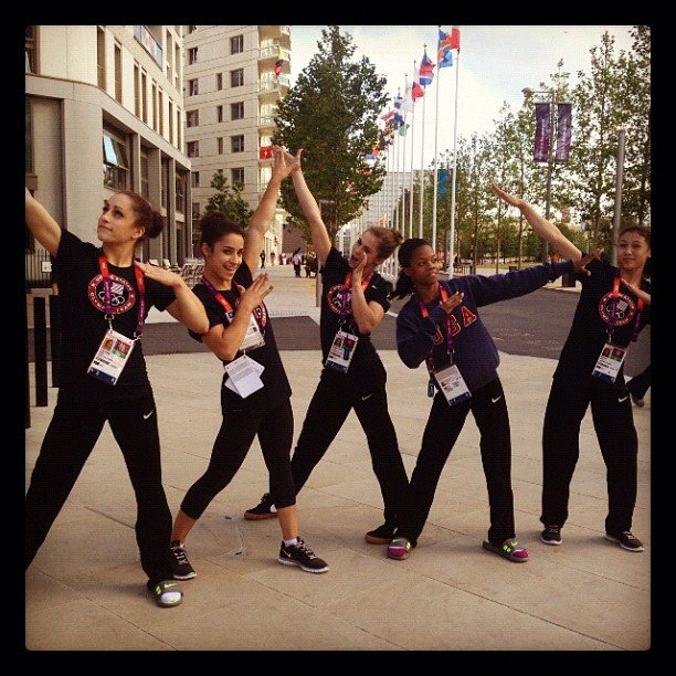 The USA women's gymanstics team showed off their hot dance moves. Source: Instagram user mckaylamaroney