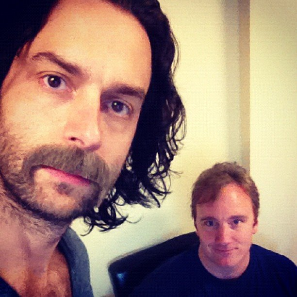 Chris D'Elia spent time with friend Jay Mohr — and showed off his mustache. Source: Instagram user chrisdelia