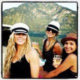 Stacy Keibler took a sunset boat ride with friends.  Source: Instagram user stacykeibler