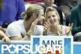 Chris Hemsworth and Elsa Pataky cheered at the 2012 Olympics.