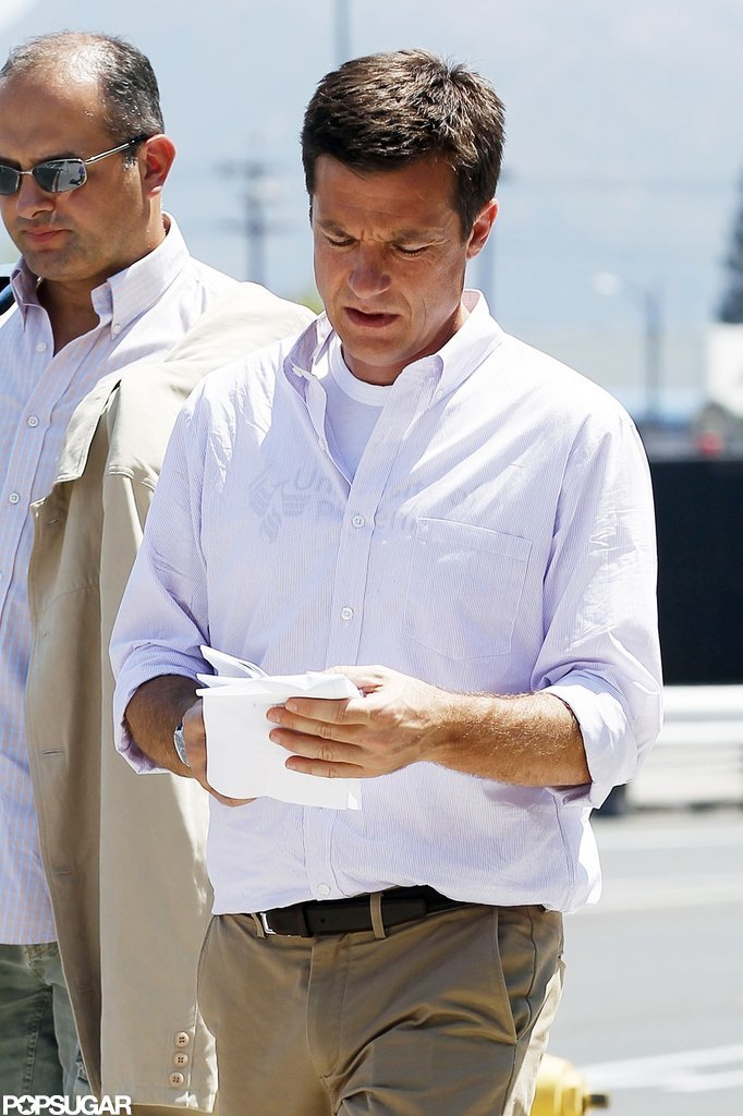 Jason Bateman wore his character's trademark uniform.