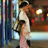 Katie Holmes and Suri Cruise Pictures Having Late Night Dinner at Nobu in NYC