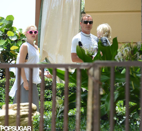 Gavin Rossdale carried Zuma Rossdale as Gwen Stefani followed close behind.