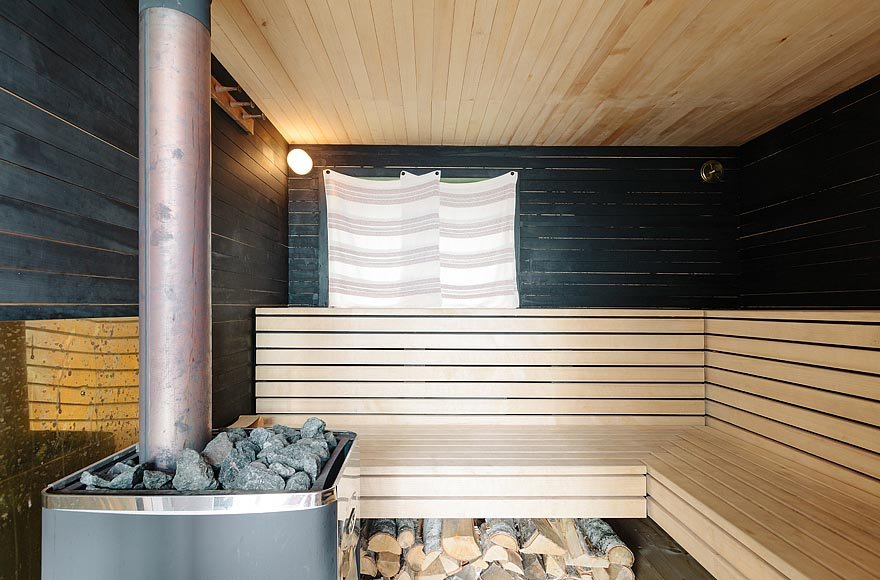 Melt all of your troubles away in the sauna.