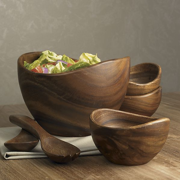 terrablack :: Dcor :: Tabletop: Wood Salad Bowls