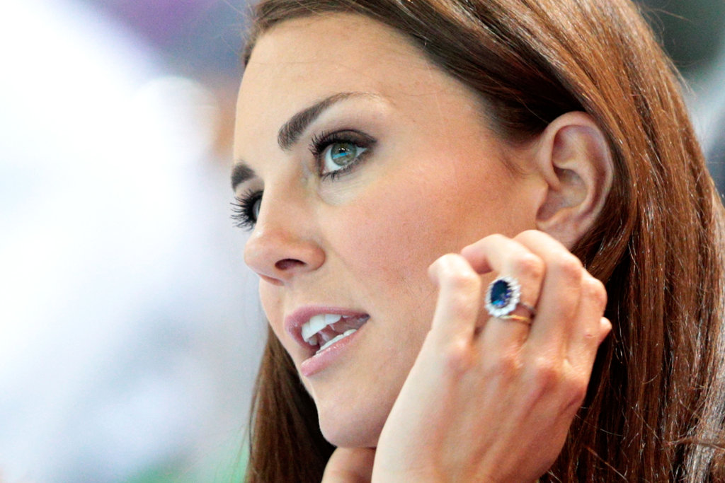 Kate Middleton wore her gorgeous engagement ring.