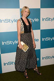 Jenna Elfman posed on the carpet at InStyle's Summer party in LA.