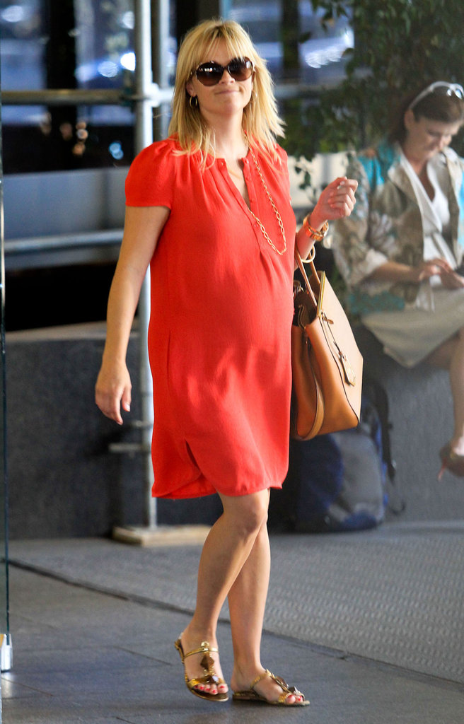 Reese Witherspoon took time from her busy work schedule to spend time with her family in LA.