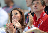 Kate Middleton and GB ambassador Robin Cousins applauded the athletes.