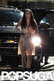 Paula Patton strutted onto set wearing a sheer dress and cowboy boots.