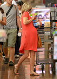 Reese Witherspoon stocked up on food for her family.