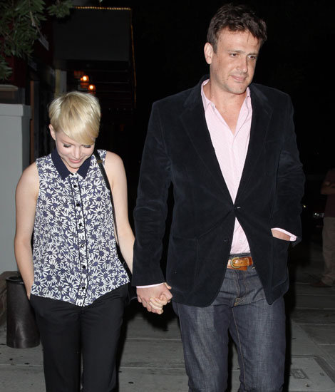 Michelle Williams and Jason Segel were hand-in-hand out in LA.