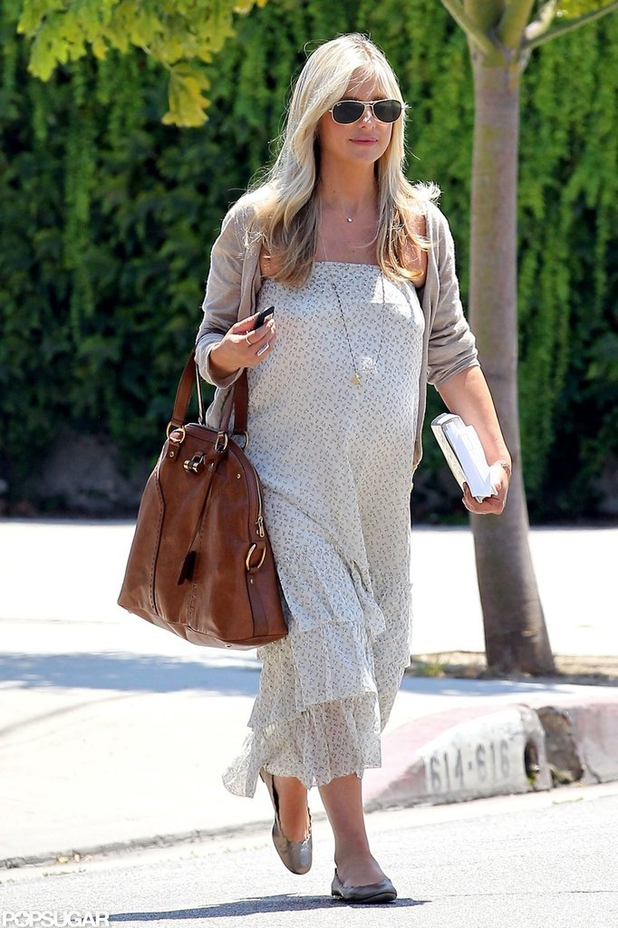 Sarah Michelle Gellar walked in West Hollywood in a long dress.