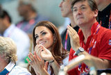 Kate Middleton smiled and cheered for the Olympic athletes.