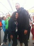 Basketball star Tyson Chandler towered over Serena Williams. Source: Mobli user Serena Williams