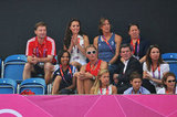 Kate Middleton clapped during the match.