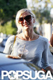 Cameron Diaz got into her car after having her hair done.