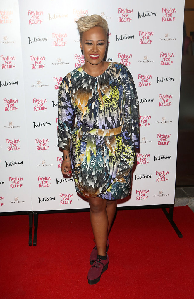 Emeil Sandé attended Naomi Campbell's Fashion for Relief charity dinner in London.