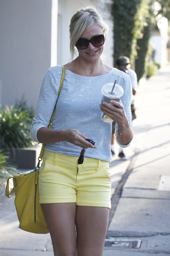 Cameron Diaz made her way to her car leaving the hair salon.