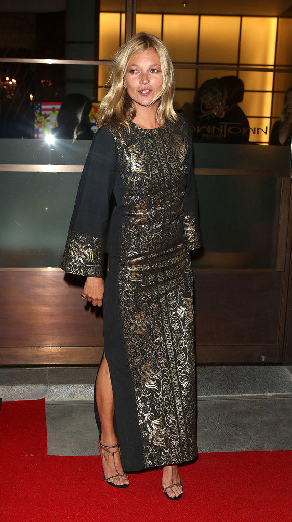 Kate Moss stepped onto the red carpet at Naomi Campbell's Fashion for Relief charity dinner in London.