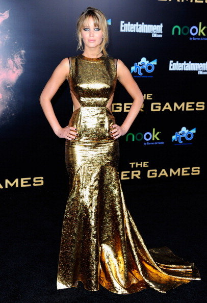 Jennifer Lawrence wore a sexy Prabal Gurung dress on the black carpet at the LA premiere of The Hunger Games in March.
