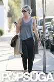 Portia de Rossi left the hair salon and made her way to her car.