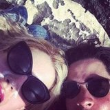Peaches Geldof had no shortage of sunscreen as she lay in the sun with fiancé Thomas Cohen.