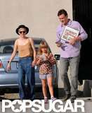 Michelle Williams and Jason Segel took a walk with Matilda Ledger in LA.