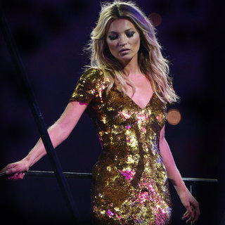 Supermodels at Olympics Closing Ceremony in London 2012