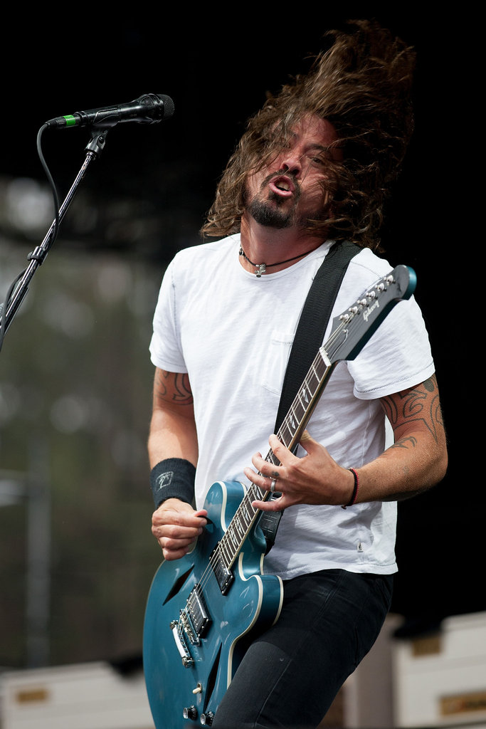 Foo Fighters' Dave Grohl rocked that long hair.