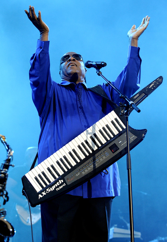 Stevie Wonder covered Michael Jackson and The Beatles during his performance.