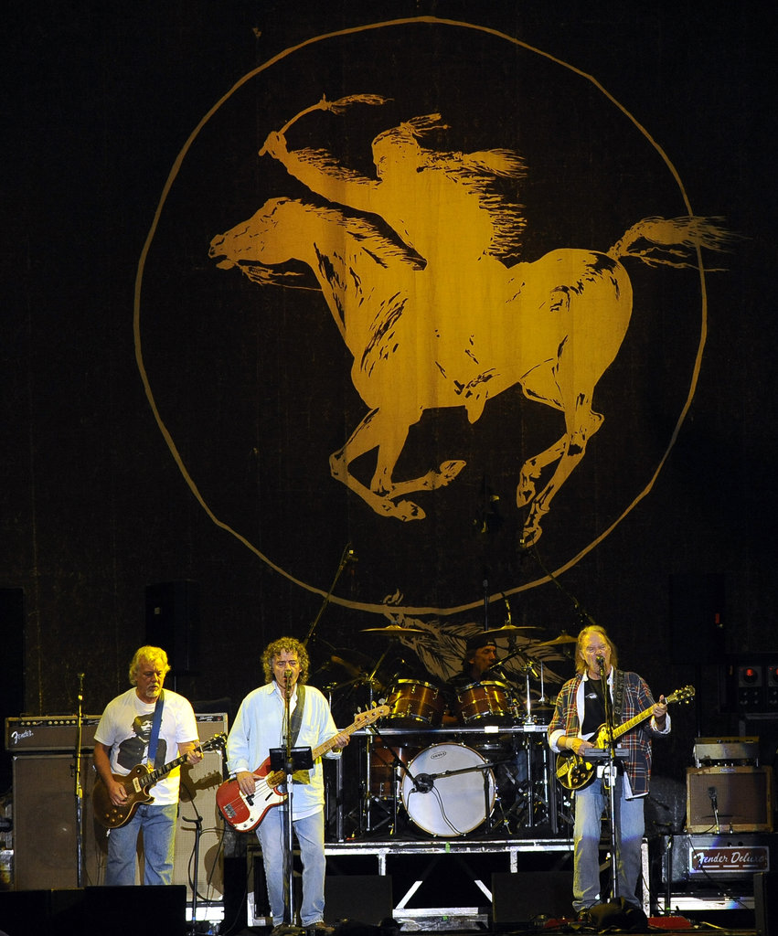 Neil Young and Crazy Horse headlined the first day of the festival.
