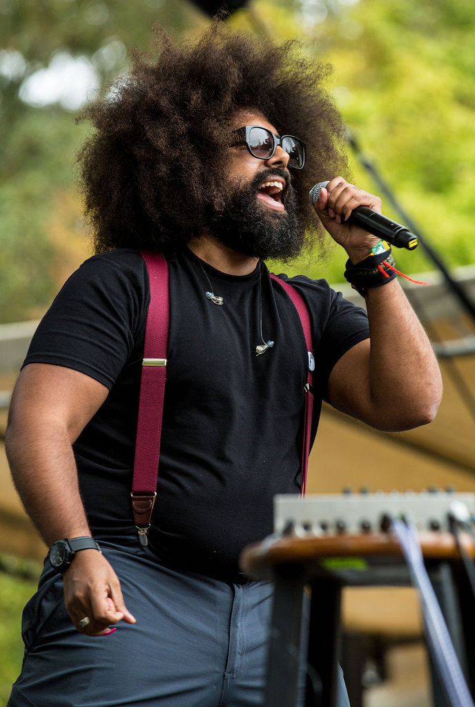 Reggie Watts performed on Friday.