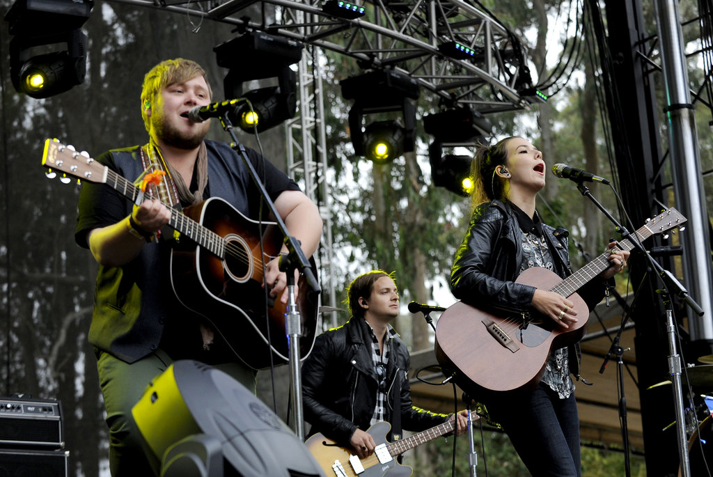 Of Monsters and Men played on the first day of the festival.