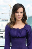 Kate Beckinsale wore a purple number for the Total Recall photocall in Berlin.