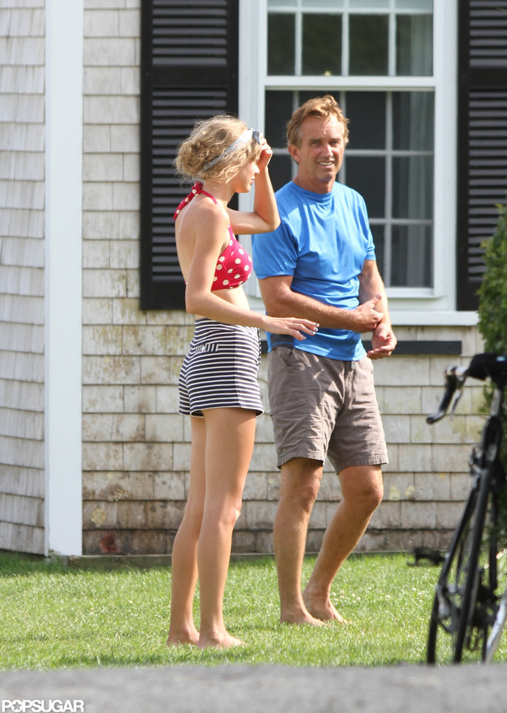 Taylor Swift chatted with Robert F. Kennedy Jr. while wearing a bikini in Hyannis.