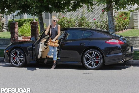Gwen Stefani parked her car in Studio City.