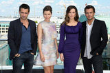Jessica Biel, Kate Beckinsale, Colin Farrell, and Len Wiseman were all in attendance at the Total Recall photocall in Berlin.