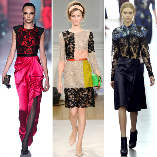 Lace Appliques Fall 2012 Trend