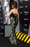 From the back, Kate's Armani Privé gown cast a cool structural silhouette at the LA premiere.