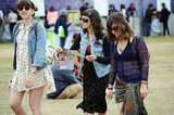 The more '90-inspired grunge meets praire-girl look was in full force at Outside Lands, with printed Summer dresses and denim jackets being the main outfit combo spotted.