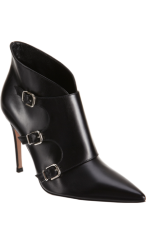 Gianvito Rossi Triple Monk Ankle Boot