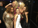 "Victoria Beckham's caption after the Spice Girls reunion: ""We did it!! I love u girls so much!!!!!"" Source: Twitter user victoriabeckham"