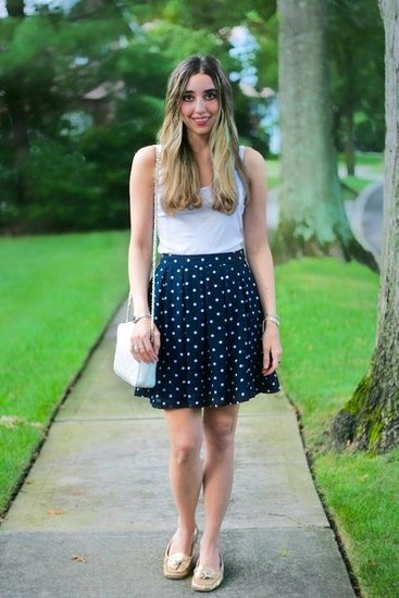 polka dotted pleats
