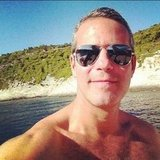 Andy Cohen went shirtless. Source: Instagram user bravoandy