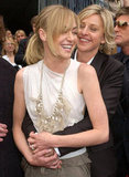 Portia de Rossi got a hug from Ellen DeGeneres on the red carpet at the April 2006 Emmys.