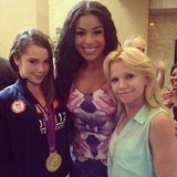McKayla Maroney got to meet Jordin Sparks. Source: Instagram user mckaylamaroney