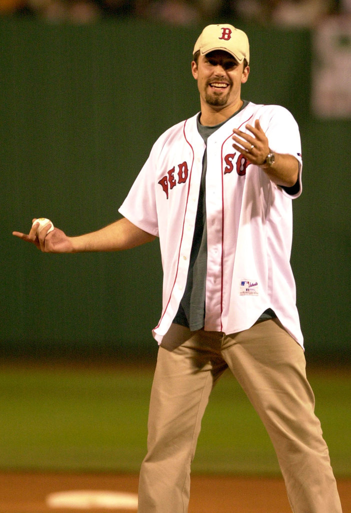 Ben Affleck threw out the first pitch in August 2003.